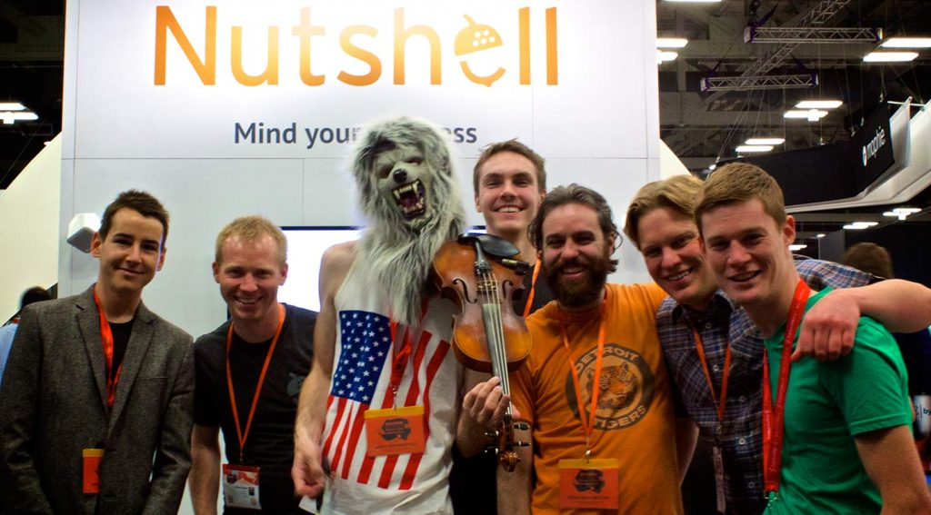 violin monster nutshell at sxsw 2014 booth