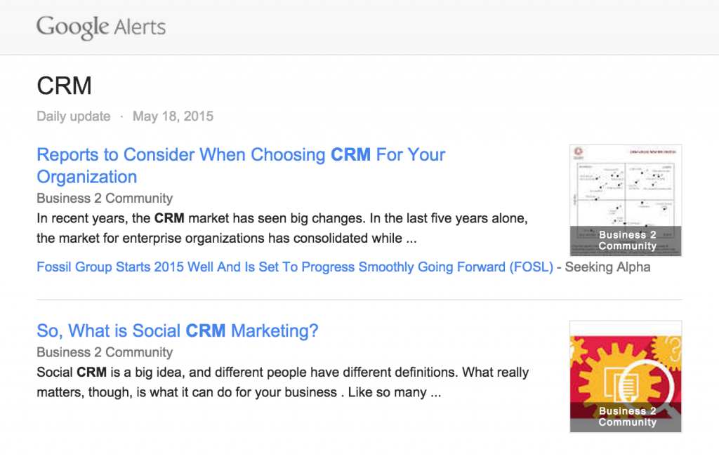 guide to social selling google alerts